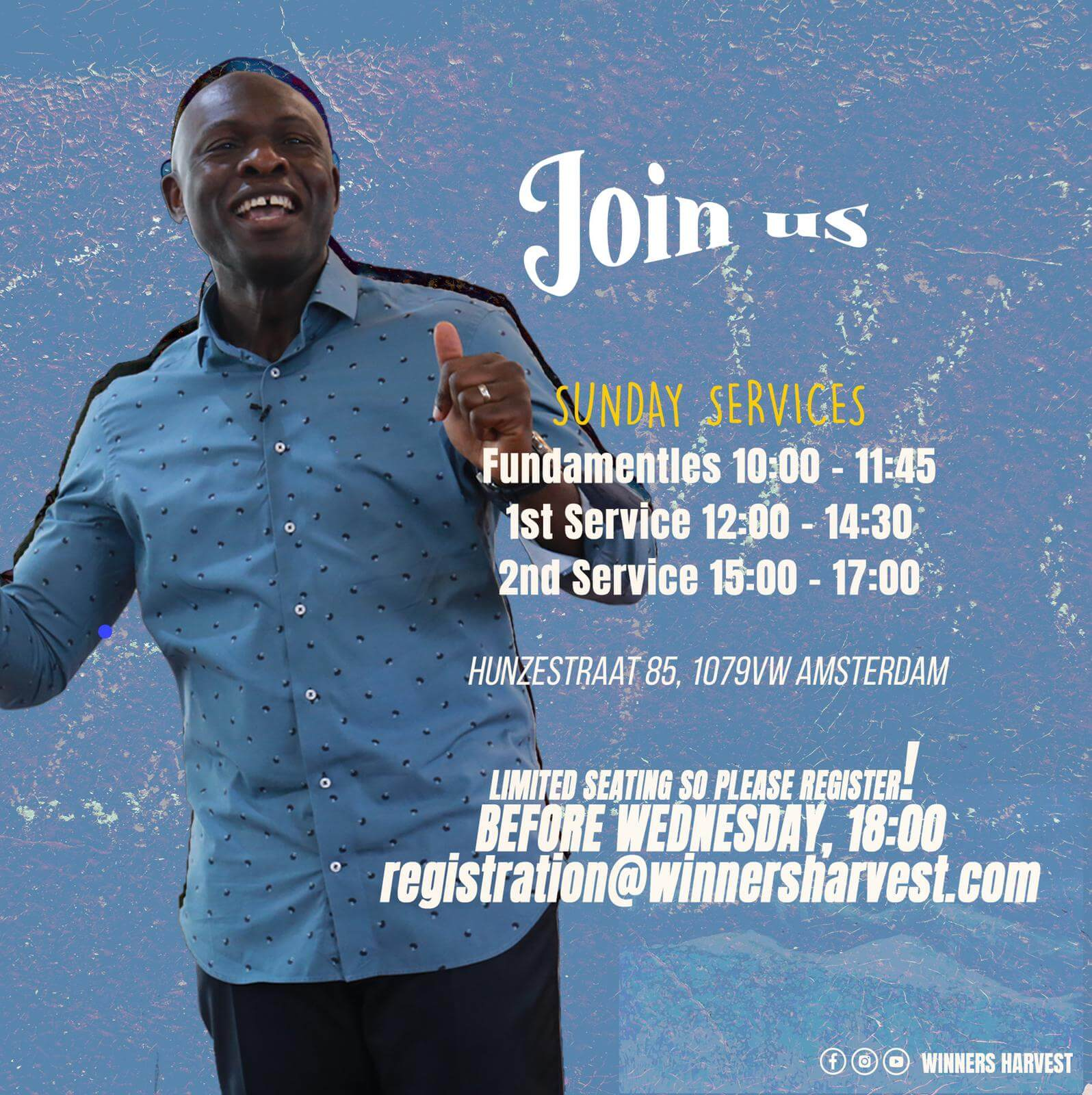 Sunday Service Amsterdam - Winners Harvest Worship Center